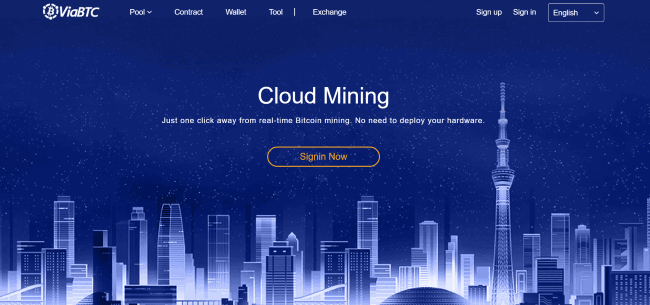 ViaBTC review cloud mining