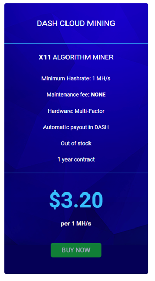 Hashflare dash cloud mining contracts price table