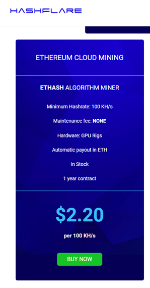 Hashflare ethereum cloud mining contracts price chart