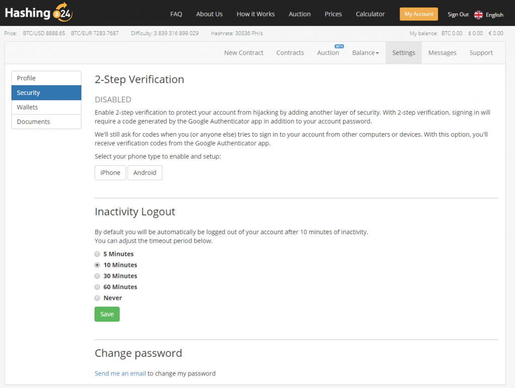 buy cloud mining bankwire hashing24 2 step verification