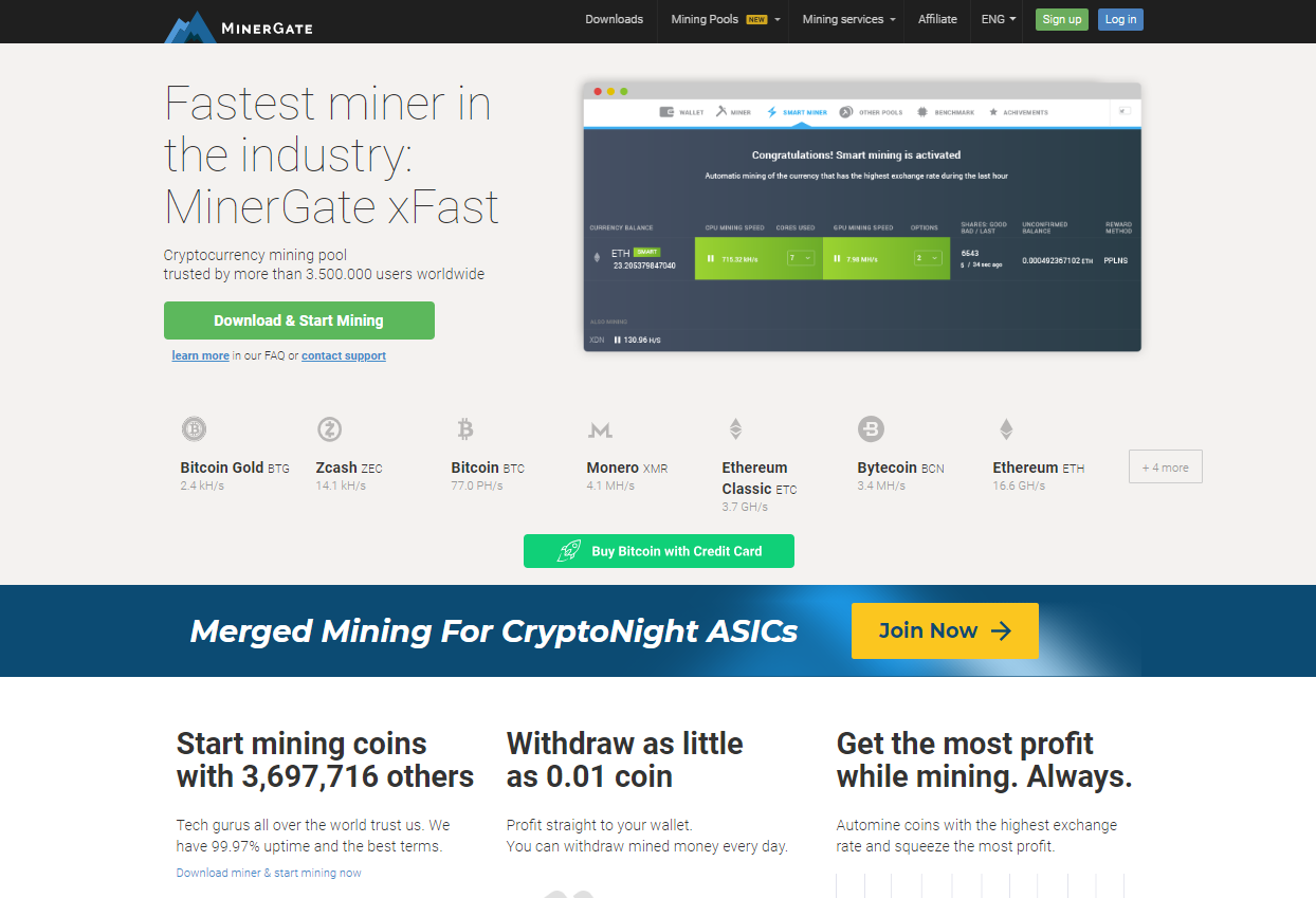 Minergate Review - All Cloud Miners